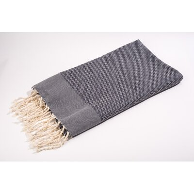 Fouta Herringbone Extra Soft Bath Towel Color: Grey