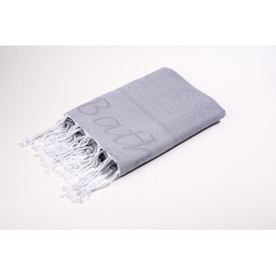Fouta Embroidered Bath Towel Color: Grey