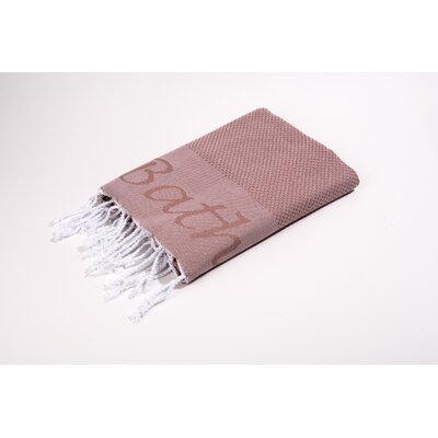 Fouta Embroidered Bath Towel Color: Rose