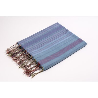 Fouta Vertical Stripes Bath Towel Color: Blue