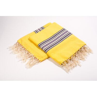 Fouta Bayadere Stripes Bath Towel Color: Yellow