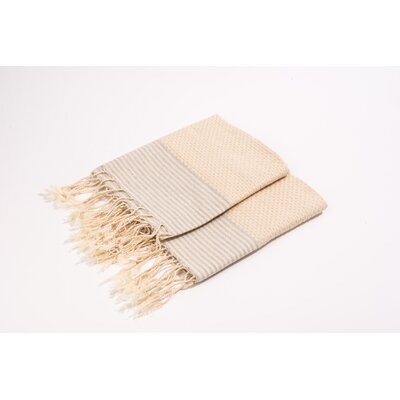 Thin Stripes Hand Towel Color: Off White/Grey