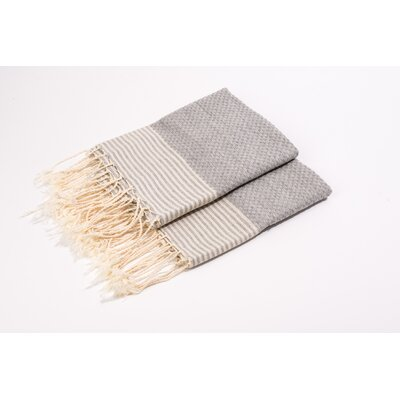Thin Stripes Hand Towel Color: Grey/White