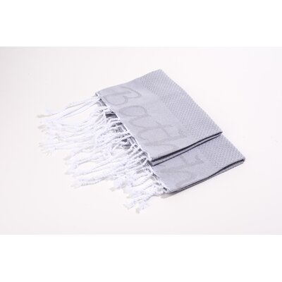 Embroidered Hand Towel Color: Grey