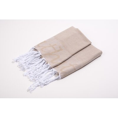 Embroidered Hand Towel Color: Beige