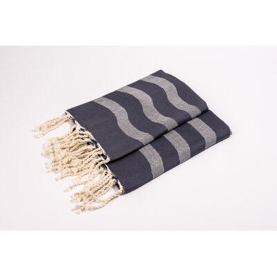Soft Canvas Wave Hand Towel Color: Grey