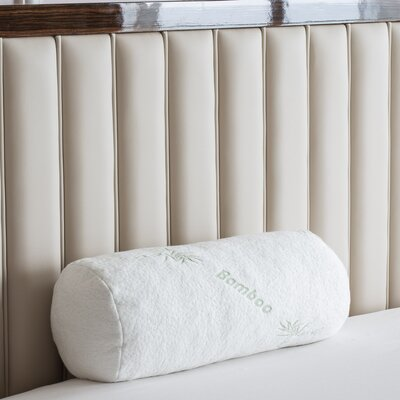 Deluxe Bamboo Derived Rayon Bolster Memory Foam Queen Pillow