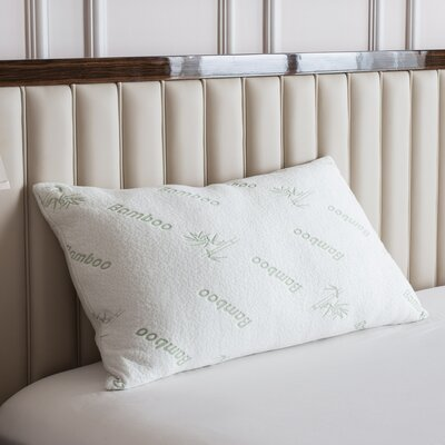 Deluxe Rayon from Bamboo Memory Foam Pillow Size: Queen