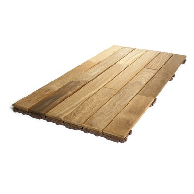 Hardwood 36 x 18 Snap in Deck Tiles in Natural