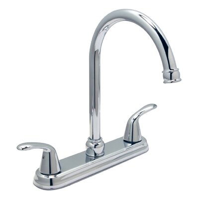 Trend Double Handle Kitchen Faucet Finish: PVD Satin Nickel, Side Spray: With Side Sprayer