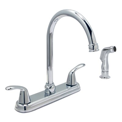 Trend Double Handle Kitchen Faucet Finish: Chrome, Side Spray: With Side Sprayer