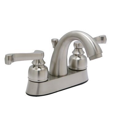 Sienna Centerset Double Handle Bathroom Faucet with Drain Assembly Finish: Satin Nickel
