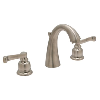 Sienna Widespread Double Handle Bathroom Faucet with Drain Assembly Finish: Satin Nickel