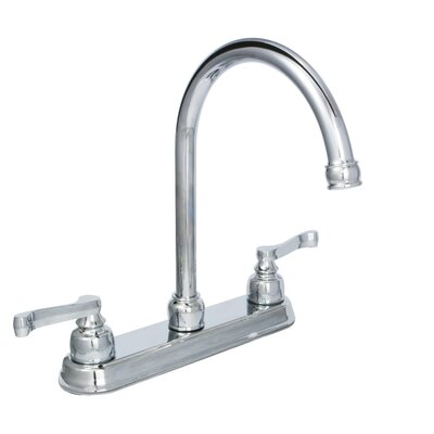 Sienna Double Handle Kitchen Faucet Finish: Chrome