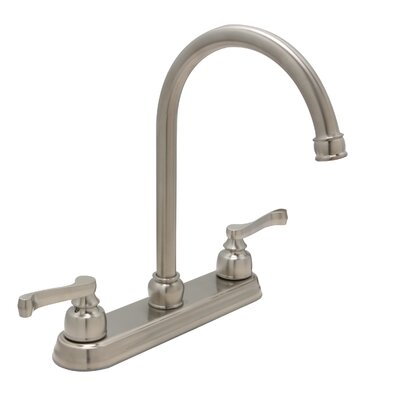 Sienna Double Handle Standard Kitchen Faucet Finish: Satin Nickel
