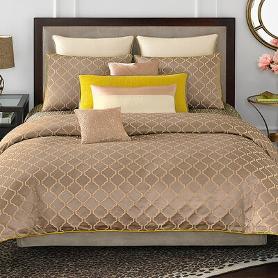 Marquette Lattice 3 Piece Comforter Set Size: King