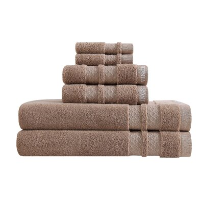 Zero Twist 6 Piece Towel Set Color: Neutral