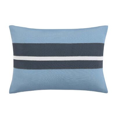 Capri Blush Lumber Pillow Color: White/Blue