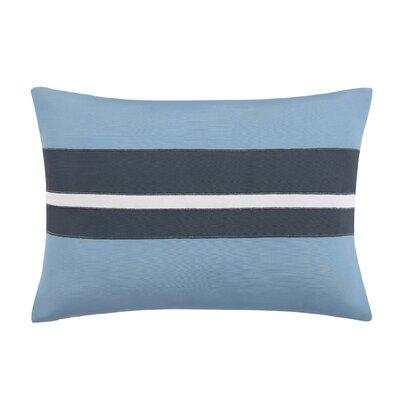 Capri Blush Lumber Pillow Color: White/Blue