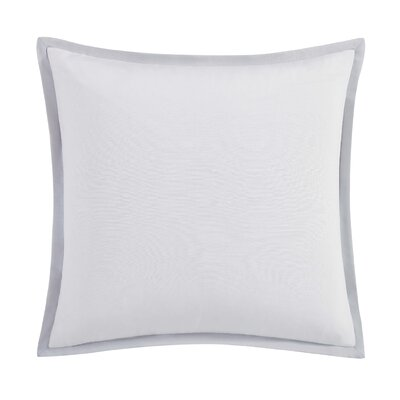 Capri Blush Euro Sham Color: White/Gray