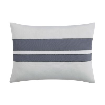 Capri Blush Lumber Pillow Color: White/Gray