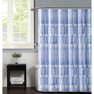 Nantucket Shower Curtain Color: Blue