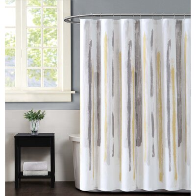 Sorrento Shower Curtain Color: Mustard