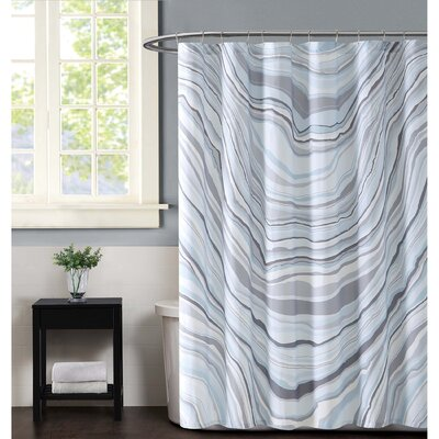Valero Shower Curtain Color: Blue