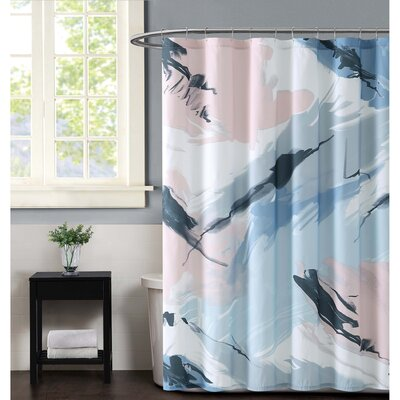 Capri Shower Curtain Color: Blush
