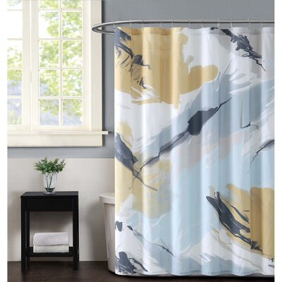 Capri Shower Curtain Color: Citron