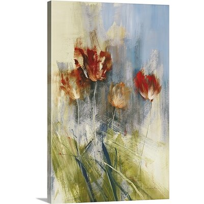 'Tulips' by Simon Addyman Painting Print on Canvas Size: 30