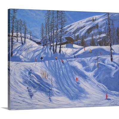 'Ski Station, Tignes' by Andrew Macara Painting Print on Canvas