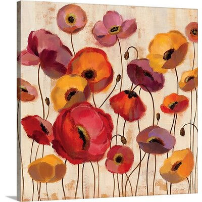 'Sunrise Anemones' by Silvia Vassileva Painting Print on Canvas Size: 20