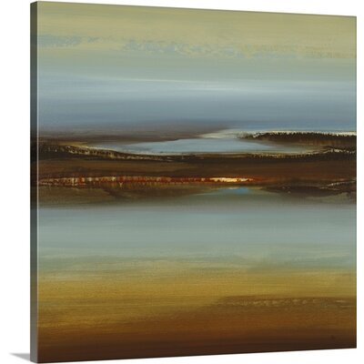 'Zen Land' by Lisa Ridgers Painting Print on Canvas Size: 30