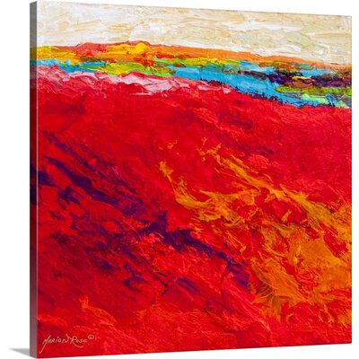 'Abstract Landscape IV' by Marion Rose Painting Print on Canvas 1156772_24_16x16_none