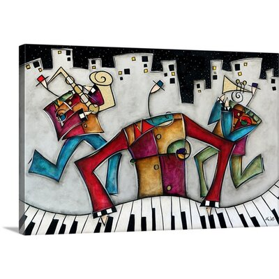 "'Silver City Jazz' by Eric Waugh Painting Print on Canvas Size: 20"" H x 30"" W x 1.25"" D 1926245_24_30x20_none"