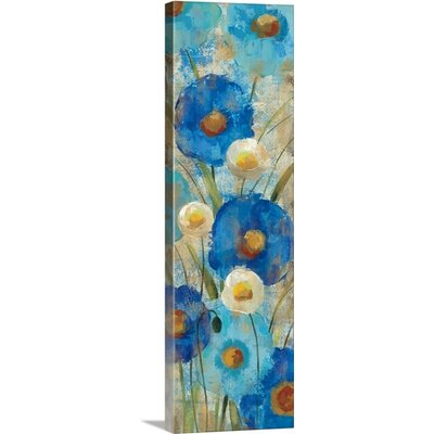 "'Sunkissed Blue and White Flowers II' by Silvia Vassileva Painting Print on Canvas Size: 60"" H x 20"" W x 1.25"" D 2036818_24_20x60_none"