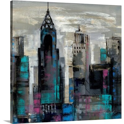 'New York Moment II' by Silvia Vassileva Painting Print on Canvas Size: 30