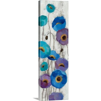 "'Bold Anemones Panel III' by Silvia Vassileva Painting Print on Canvas Size: 60"" H x 20"" W x 1.25"" D 2036735_24_20x60_none"