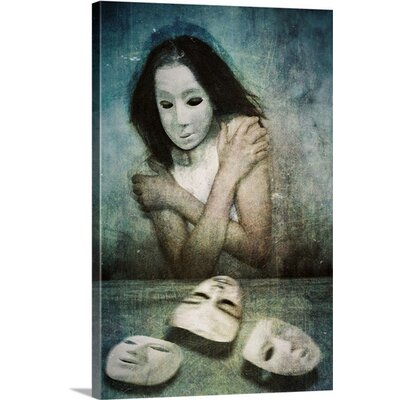 Masks by Lucynda Lu Painting Print on Canvas Size: 24