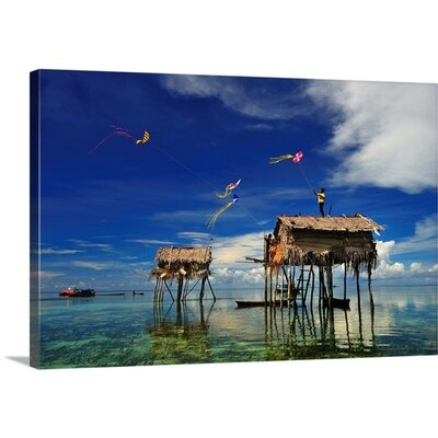 "The Kite Runner by Andreas Kosasih Photographic Print on Canvas Size: 16"" H x 24"" W x 1.25"" D"