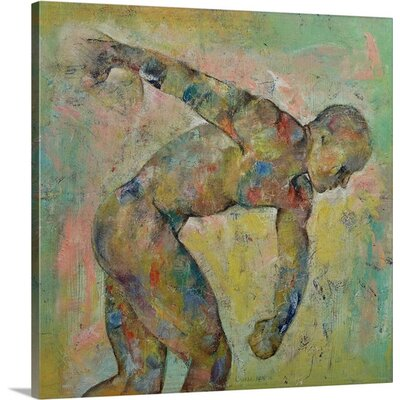 "Discus Thrower by Michael Creese Graphic Art on Canvas Size: 16"" H x 16"" W x 1.25"" D 2386954_24_16x16_none"