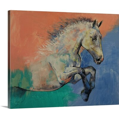 Graceful Jets - Horse Portrait by Michael Creese Graphic Art on Canvas 2386966_24_20x16_none