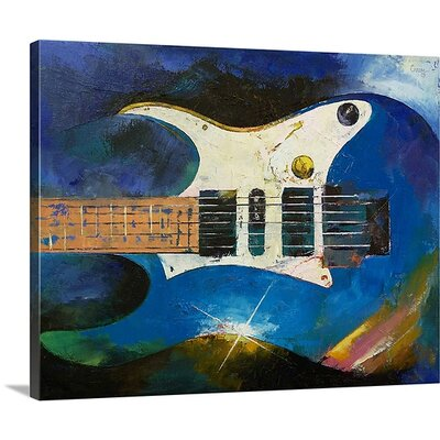 Electric Guitar by Michael Creese Painting Print on Canvas MC0130070_24_30x24_none