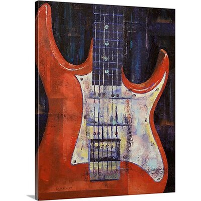 Electric Guitar by Michael Creese Painting Print on Canvas MC0130021_24_16x20_none