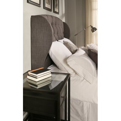 Archer Upholstered Wingback Headboard Size: Easten King/Cal King, Upholstery: Grey