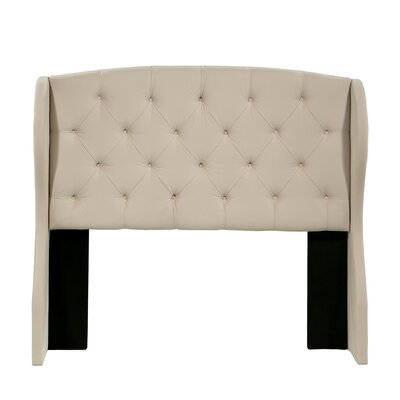 Sornson Upholstered Wingback Headboard Size: Queen/Full, Upholstery: Ivory