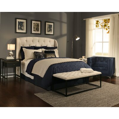 Archer Upholstered Wingback Headboard and Bench Size: Queen/Full