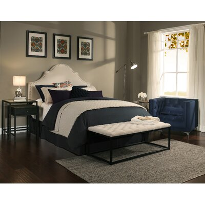 Portman Upholstered Panel Headboard and Bench Size: Queen/Full
