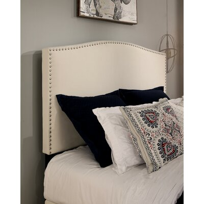 Newport Upholstered Panel Headboard Size: Queen/Full, Upholstery: Ivory